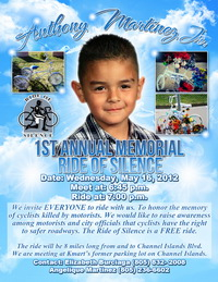 Anthony Martinez, Jr. Ride of Silence Memorial Poster
